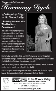 Harmony Dyck is Recognized with a Realtor Cares Award